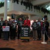 Groups passionate about Iowa Supreme Court Justices demonstrate in Mason City