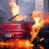 Cig causes car to combust Tuesday evening