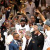 Heat fans revel in the joy of a victory party