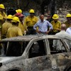 Obama surveys 'enormous' devastation wrought by wildfires
