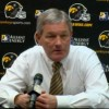 Post-game interview with University of Iowa football head coach Kirk Ferentz