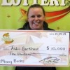 North Iowa woman wins $10,000 lottery prize, claims prize in Mason City