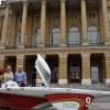 Solar race car built with help of North Iowa students visits Iowa Statehouse