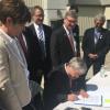 Branstad signs bill in Newton after snubbing Mason City