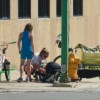 Baby taken to hospital after driver strikes bicyclist with green light (photos)