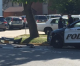 Police cruiser involved in auto accident with car today in Mason City