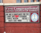 "Church sign in Mason City vandalized; word ""gay"" painted over"