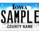 Iowa Governor to unveil choices for Iowa's new license plates