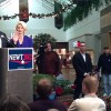 Presidential candidate Newt Gingrich visits Mason City