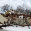 Former Trax Bar building demolished Tuesday