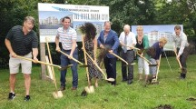 Ground-breaking ceremony held today in Mason City for new downtown housing complex