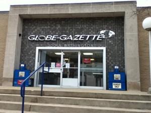 Lee's Globe Gazette in Mason City, Iowa.
