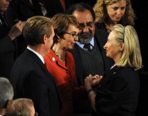 Secretary of State Hillary Clinton (right)
