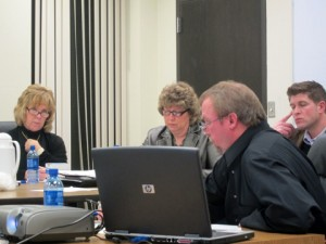 City Finance Director Kevin Jacobson (front)
