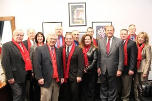 Last March, North Iowa leaders, under the banner of the Chamber of Commerce, went to Washington D.C. They wore red Chamber scarves into the offices of our elected leaders to show a united front for the policies the Chamber wants to advance.
