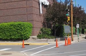 Pavement painting in Mason City