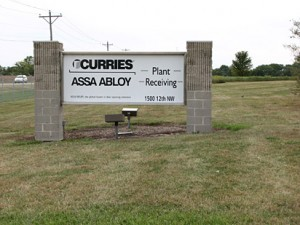 Curries plant, a door-manufacturer located on 12th Street NW in Mason City
