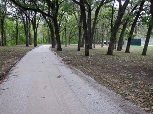 Trails south of the West Park tennis courts were recently re-paved