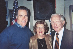 Dr. Gary B. Blodgett and his wife, Sandy, with Republican Presidential nominee Mitt Romney, July, 2012.
