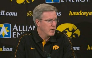 Iowa Coach Fran McCaffery at a press conference held December 28th, 2012.
