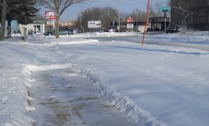 Uncleared sidewalks may be cleared by the city ... at a cost.
