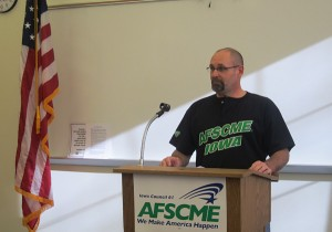 AFSCME Member, Iowa DOT Construction Technician and Mason City citizen Daryl Erickson