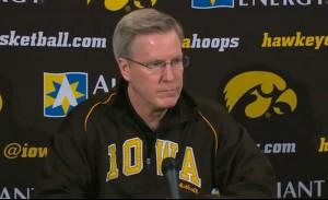 Iowa Basketball Coach Fran McCaffery at press conference, January 8th, 2013
