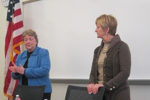Senator Amanda Ragan and Representative Sharon Steckman explain how they work with the Chamber of Commerce.