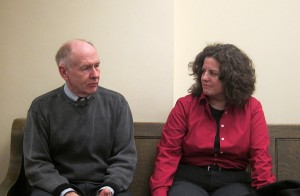 Supervisor Jay Urdahl and Judge Colleen Weiland prior to Supervisor meeting on January 2, 2013.