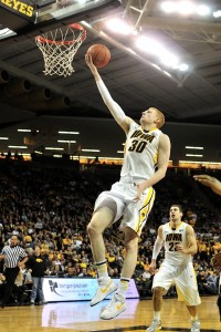Aaron White scores against Purdue