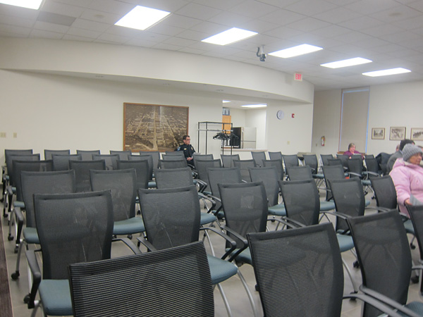 The audience at Mason City Council meeting on March 19th, 2012.  A very typical display, with hardly any citizens in attendance.