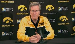 Iowa basketball coach Fran McCaffery