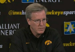 Iowa coach Fran McCaffery