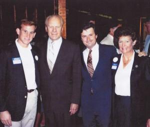 Troy Blodgett, President Gerald R. Ford, Fred Grandy and Sandy Blodgett, 1976