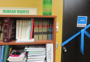 The long-time office of the Mason City Human Rights agency.  Personnel from the Blue Zones project are slowly moving into the office as funding for Human Rights was dramatically slashed by Alex Kuhn, Jean Marinos, Scott Tornquist, Travis Hickey, John Lee and Janet Solberg.