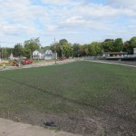 New grass grows at the corner of Madison Ave. and Second Street SW in 2013.