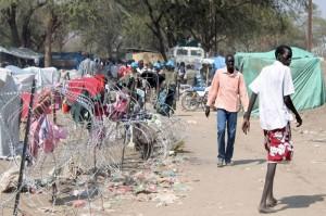 South Sudanese fleeing fighting, find refuge inside the UNMISS compound in Bor, Jonglei state. Photo: UNMISS/Tina Turyagyenda