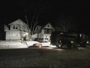 714 N. Penn., Firefighters investigate water leak