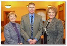 Troy Swanson, plant manager at Cargill Kitchen Solutions in Mason City, joined Cargill employees from across Iowa when they visited the Statehouse on January 15. Troy talked with Rep. Linda Upmeyer and me about the company's operations in Mason City, Eddyville and Ottumwa.