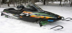 A snowmobile similar to the stolen model of the stolen snowmobile. (Click photo to view larger)