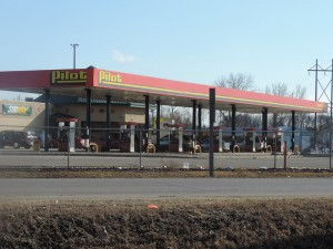 The Clear Lake Pilot truck stop has the lowest gas price in the area