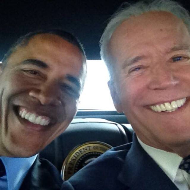 """A """"selfie"""" photo posted by the White House titled """"Pals"""" ... embarrassing, or cool and hip?"""