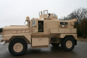An MRAP vehicle used by the US Marines