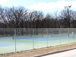 Tennis courts at Mason City's West Park