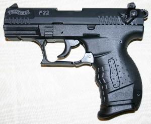 A Walther .22 caliber handgun