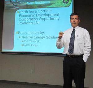CES CEO Joe Yavorski presents to the Landfill of North Iowa Board.