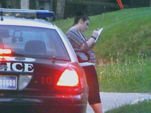 Female who claimed she was shot filling out report