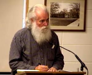 Phillip Flinchum tries in vain to plead his case to Mason City Council.