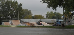 Ray Rorick skate park ... may not be safe for children.