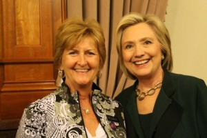 """""""I had the pleasure to meet with presidential candidate Hillary Clinton on Wednesday, April 15th,"""" Rep. Steckman said previously. She says Clinton is coming back to Mason City."""